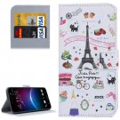For HTC M10 Cartoon Pattern Leather Case with Holder, Card Slots & Wallet