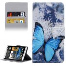 For HTC Desire 530 Butterfly Pattern Leather Case with Holder, Card Slots & Wallet