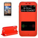 For HTC Desire 510 Red Sand Flip Leather Case with Call Display ID & Holder