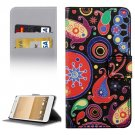 For HTC One A9 Abstract Pattern Leather Case with Holder, Card Slots & Wallet