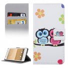 For HTC One A9 Owls Pattern Leather Case with Holder, Card Slots & Wallet