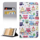 For HTC One A9 Cartoon Pattern Leather Case with Holder, Card Slots & Wallet