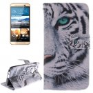 For HTC One M9 Tiger 2 Pattern Leather Case with Holder, Card Slots & Wallet