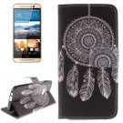 For HTC One M9 WindBell 2 Pattern Leather Case with Holder, Card Slots & Wallet
