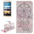 For HTC One M9 Cap 2 Pattern Leather Case with Holder, Card Slots & Wallet