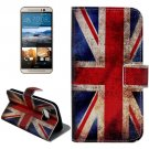 For HTC One M9 UK Flag Pattern Leather Case with Holder, Card Slots & Wallet
