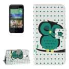 For HTC Desire 526G Owl Pattern Leather Case with Holder, Card Slots & Wallet