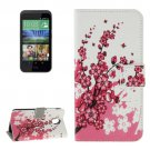 For HTC Desire 526G Flower Pattern Leather Case with Holder, Card Slots & Wallet