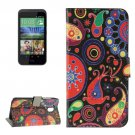 For HTC Desire 526G Abstract Pattern Leather Case with Holder, Card Slots & Wallet
