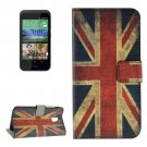 For HTC Desire 526G UK Flag Pattern Leather Case with Holder, Card Slots & Wallet
