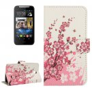 For HTC Desire 310 Blossom Pattern Leather Case with Holder, Card Slots & Wallet