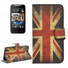 For HTC Desire 310 UK Flag Pattern Leather Case with Holder, Card Slots & Wallet