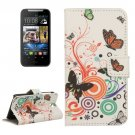 For HTC Desire 310 Butterfly Pattern Leather Case with Holder, Card Slots & Wallet