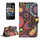 For HTC Desire 310 Abstract Pattern Leather Case with Holder, Card Slots & Wallet