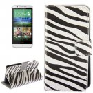 For HTC Desire 510 Zebra Pattern Leather Case with Holder, Card Slots & Wallet
