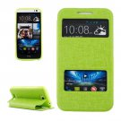 For HTC Desire 616 Green Flip Leather Case with Call Display ID & Holder