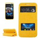For HTC Desire 616 Yellow Flip Leather Case with Call Display ID & Holder