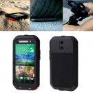 For HTC One E8 Black Love Mei Powerful Dustproof Shockproof Anti-slip Case