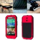 For HTC One E8 Red Love Mei Powerful Dustproof Shockproof Anti-slip Case