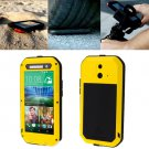 For HTC One E8 Yellow Love Mei Powerful Dustproof Shockproof Anti-slip Case