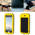 For HTC One A9 Yellow Love Mei Powerful Dustproof Shockproof Anti-slip Case