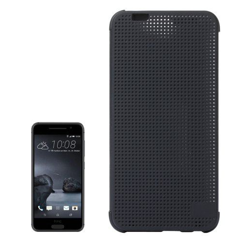 For HTC One A9 Grey Mesh Smart Cover Flip Silicon + PC Hard Case