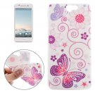 For HTC One A9 Ultrathin Butterflies Pattern Soft TPU Protective Cover Case