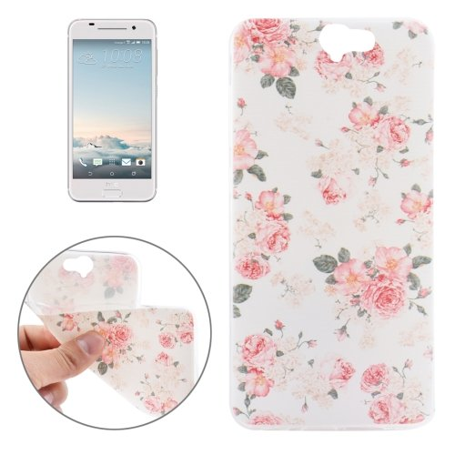 For HTC One A9 Ultrathin Flowers Pattern Soft TPU Protective Cover Case