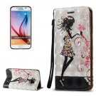 For Galaxy S6 3D Fairy Pattern Leather Case with Holder, Card Slots & Lanyard