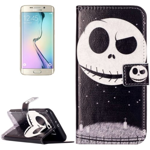 For Galaxy S6 Skull Pattern Leather Case with Holder, Card Slots & Wallet