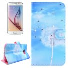 For Galaxy S6 Dandelions Pattern Leather Case with Holder, Card Slots & Wallet