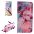 For Galaxy S6 Smudge Pattern Leather Case with Holder, Card Slots & Wallet