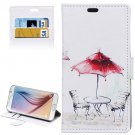 For Galaxy S6 Kiosk Pattern Leather Case with Holder, Card Slots & Wallet
