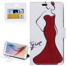 For Galaxy S6 Sexy Girl Pattern Leather Case with Holder, Card Slots & Wallet
