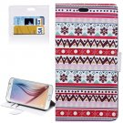 For Galaxy S6 Embroidery Pattern Leather Case with Holder, Card Slots & Wallet