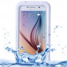 For Galaxy S6 White IPX8 Waterproof PVC Case with Touch Responsive Front