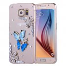 For Galaxy S6 Fevelove Diamond Butterfly Pattern PC Protective Case Back Cover