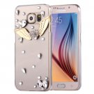 For Galaxy S6 Fevelove Diamond Angel Pattern PC Protective Case Back Cover