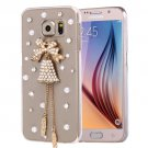 For Galaxy S6 Fevelove Diamond Bell Pattern PC Protective Case Back Cover