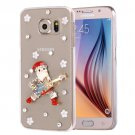 For Galaxy S6 Fevelove Diamond Christmas Pattern PC Protective Case Back Cover