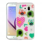 For Galaxy S6 Love Owls Pattern IMD Workmanship Soft TPU Protective Case