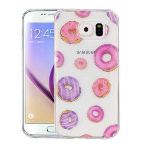 For Galaxy S6 Doughnut Pattern IMD Workmanship Soft TPU Protective Case