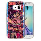 For Galaxy S6 IMD Flowers Pattern Blu-ray Soft TPU Protective Case
