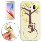 For Galaxy S6 Tree and Bird Pattern TPU Protective Case