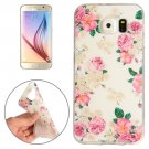 For Galaxy S6 Flowers Pattern TPU Protective Case