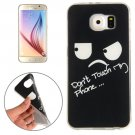 For Galaxy S6 Eyes and Words Pattern TPU Protective Case