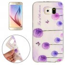 For Galaxy S6 Dandelion Pattern TPU Protective Case