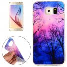 For Galaxy S6 Trees and Clouds Pattern TPU Protective Case