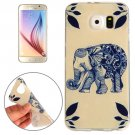 For Galaxy S6 Elephant Pattern TPU Protective Case
