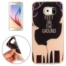 For Galaxy S6 Sika Deer Words Pattern TPU Protective Case